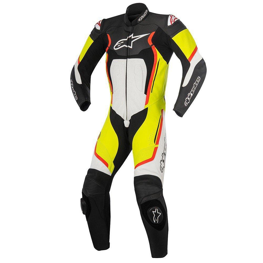 a165eee704ec7 ALPINESTARS Motegi V2 1PC Suit Black / White / Yellow Fluo / Red Fluo -  Motostar.sk